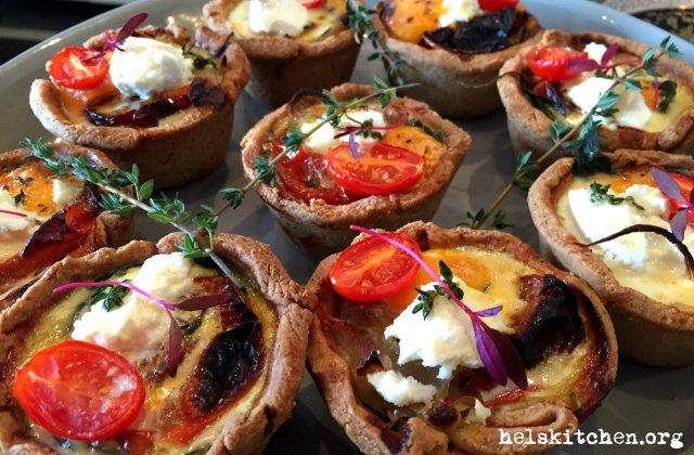10.1 Egg, spinach, roast tomato & thyme tart